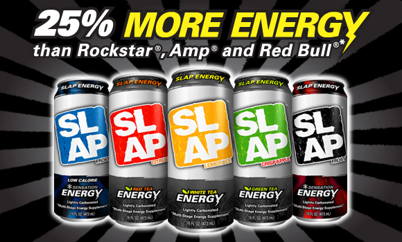 Free SLAP energy drink sample (select states only)