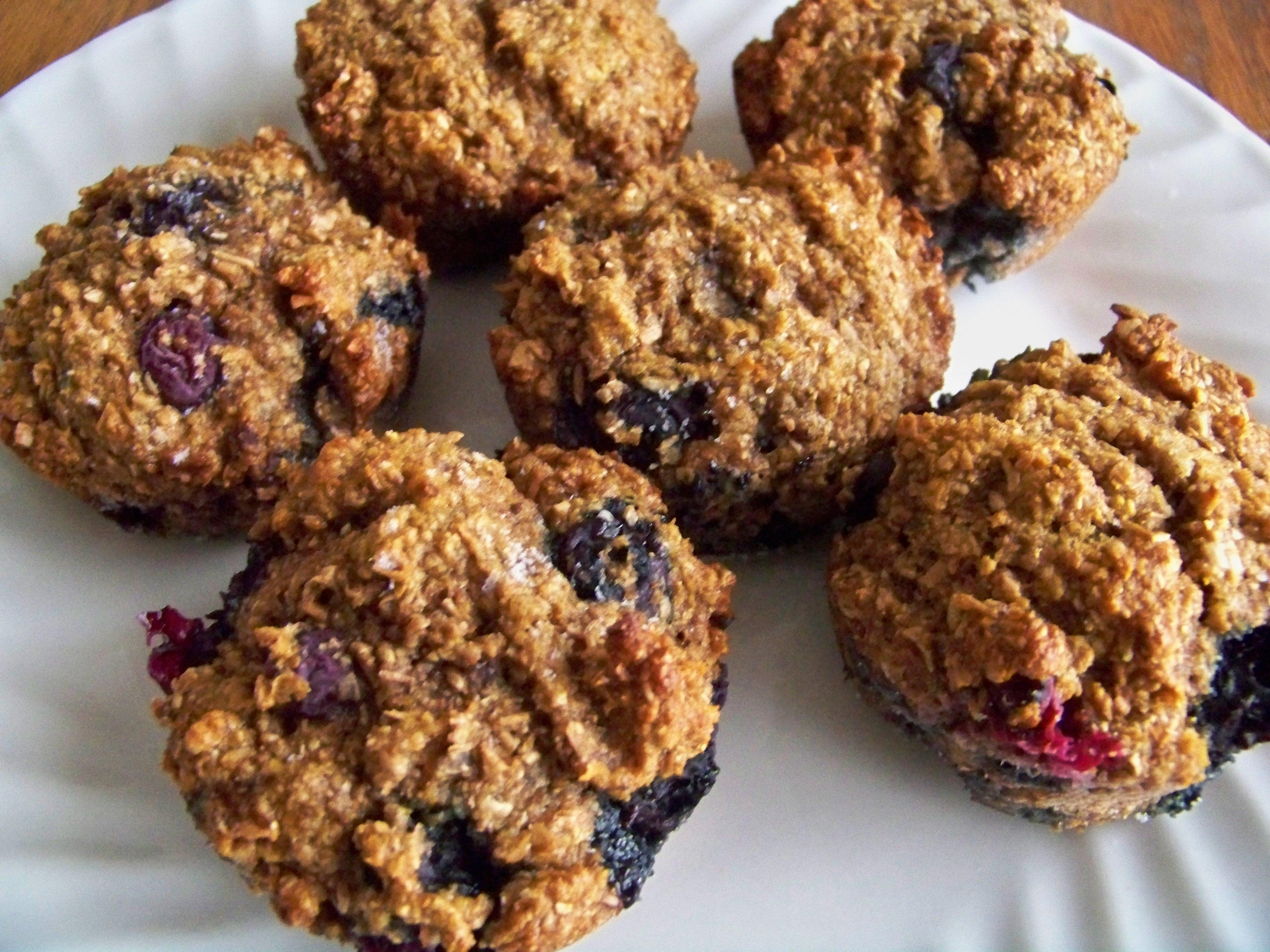 Whole-Wheat Blueberry Banana Bran Muffins - Money Saving Mom®